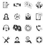 Black And White Customer Support Icon Set Stock Photos