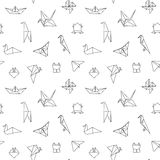 Black and White Cute Kids Seamless Pattern Stock Photos