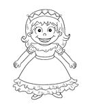 Black and white - cute princess Stock Photos