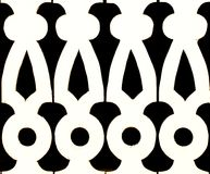 Black and White cutout background pattern Stock Image