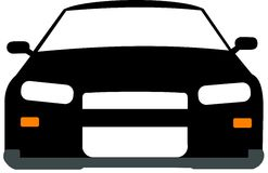 Black and White 2d car Stock Photography
