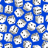 Black and white 3D dice seamless pattern Stock Photography