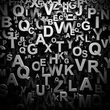 3D letters wallpaper Stock Images