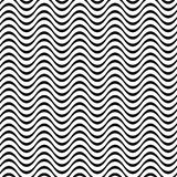 Black and white 3D seamless wave pattern. Black and white 3D seamless wave line pattern Stock Images