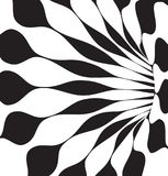Black and white 3d shapes vector. Background Stock Photos