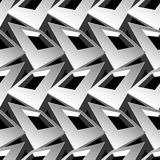 Black and white 3D square abstract seamless pattern.  Royalty Free Stock Photos