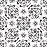 Black and white damask seamless pattern Stock Photography