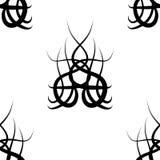 Black and white  damask seamless pattern Stock Photography