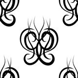 Black and white  damask seamless pattern Royalty Free Stock Photo