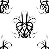 Black and white  damask seamless pattern Stock Image