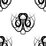 Black and white  damask seamless pattern Royalty Free Stock Photography