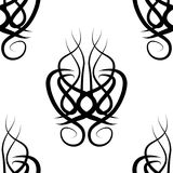 Black and white  damask seamless pattern Royalty Free Stock Images