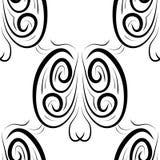 Black and white  damask seamless pattern Stock Photos