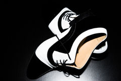Black and white dancing shoes Stock Images