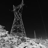 Black and White. Dark Black and White Tower Landscape Royalty Free Stock Image