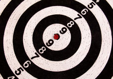Black and white darts target Stock Photo
