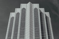 Black and white Dayabumi Complex building in the morning in Kuala Lumpur, Malaysia Royalty Free Stock Image