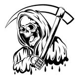 Black and white death. Epic Black and white death tattoo eps Stock Image