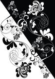 Black-white decorative backgro Royalty Free Stock Images