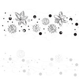 Black and white decorative background with abstrac Stock Photo