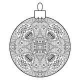 Black and white decorative Christmas ball. Stock Image