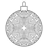 Black and white decorative Christmas ball. Stock Photography
