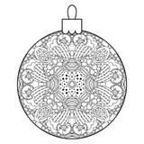 Black and white decorative Christmas ball. Stock Photos