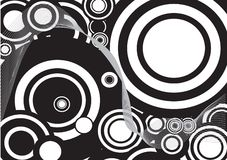 Black and white decorative circle Stock Photos