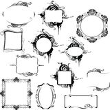Black and white decorative different frames Royalty Free Stock Image