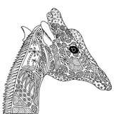 Black and white decorative giraffe. Stock Photos
