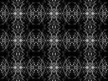 Black and White Decorative Ornament Pattern Stock Photo