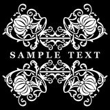 Black And White Decorative Ornate Banner Stock Image