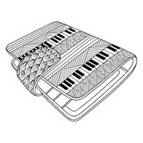Black and white decorative pocketbook. Stock Images