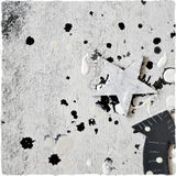 Black and white decorative scrap wallpaper Stock Image