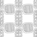 Black and white decorative seamless pattern for coloring book. Stock Photography