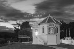 Black&white del tempio del bot di Wat Immagine Stock