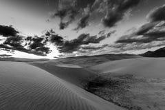 Black and White Desert Landscape Royalty Free Stock Photo