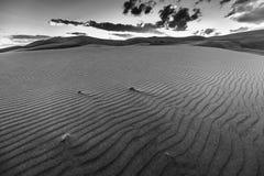 Black and White Desert Landscape Stock Photo