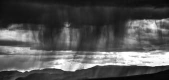 Black and white of desert storm Stock Images
