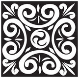 Black and white design Stock Image