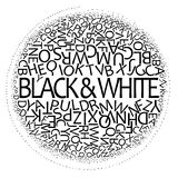 Black and white design royalty free stock images
