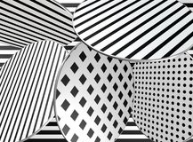 Black and white design. / pattern / shapes Stock Image