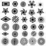 Black & White Design Logo Elements Stock Photos