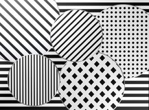 Black and white design. / pattern / shapes Stock Photos