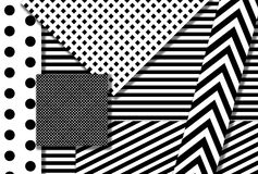 Black and white design. / pattern / shapes Royalty Free Stock Photos