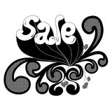 Black and white design with Royalty Free Stock Image