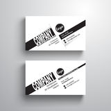 Black white design typography name card template, business card, minimalist style, vector royalty free illustration