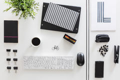 Black and white desk creation Stock Images