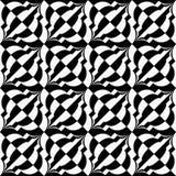 Black and white diagonal bulbs checkered Royalty Free Stock Image