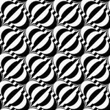 Black and white diagonal bulbs on stripes Stock Photos